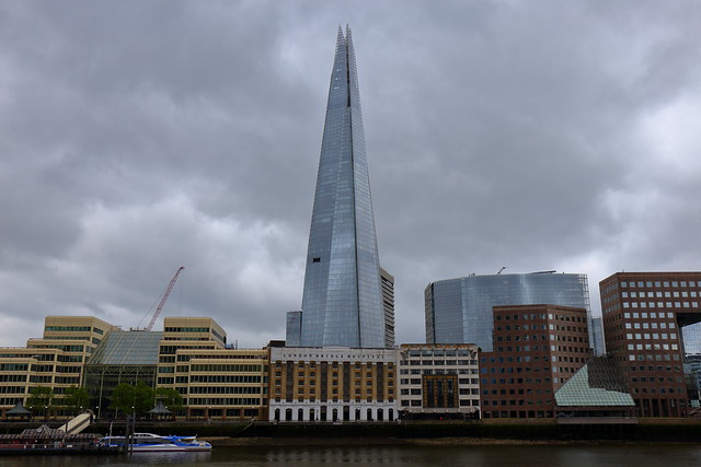 The Shard under the storm. London