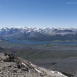 Looking into Glacier National Park from Divide Mountain