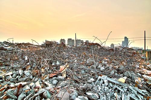 china sunset ruins remove hangzhou xiaoshan 城北村