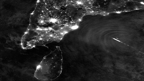 Lightning Flashes and Gravity Waves in Tropical Cyclone Mahasen | by NASA Goddard Photo and Video