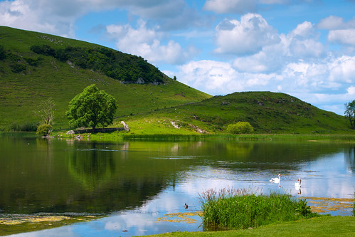 ireland summer sky lake reflection nature water clouds landscape clare ngc