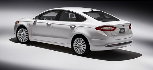 The 2013 Ford Fusion Energi is a plug-in hybrid capible of getting up to 125 miles per gallon on short trips. Photo