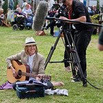 Cerys Matthews plays guitar | Cerys Matthews plays guitar in the Gardens