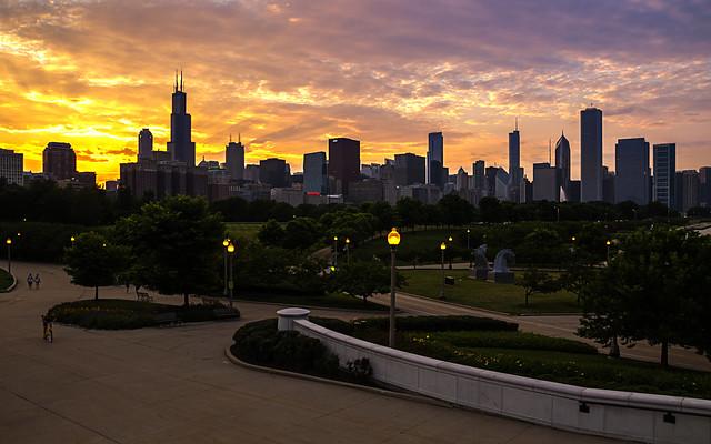 Chicago Sunset (Explore 9/13/13)