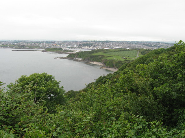 View back to Plymouth from Jennycliff