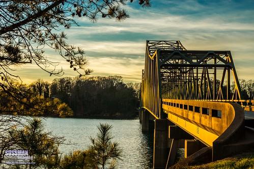 trestle bridge sunset sky lake nature water georgia gainesville lanier lakelanier week12 forsythcounty hallcounty brownsbridge thesussman thememetal sonyslta77 sussmanimaging 52in2015