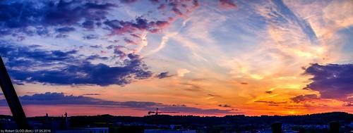 sunset panorama luxembourg