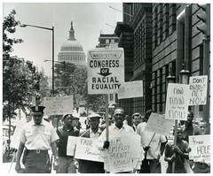 Marchers demand job & housing equality in DC: 1963