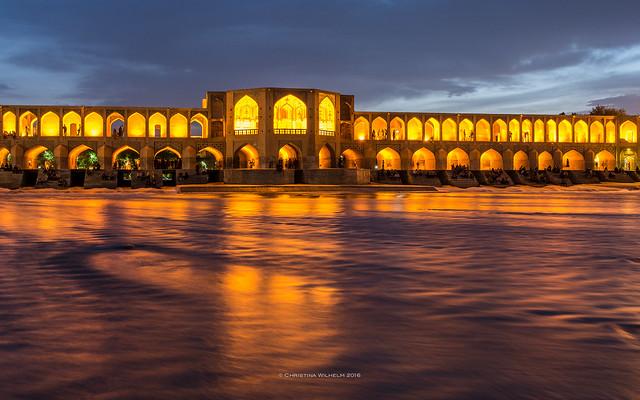The oldest Bridge of Isfahan named Khaju Bridge