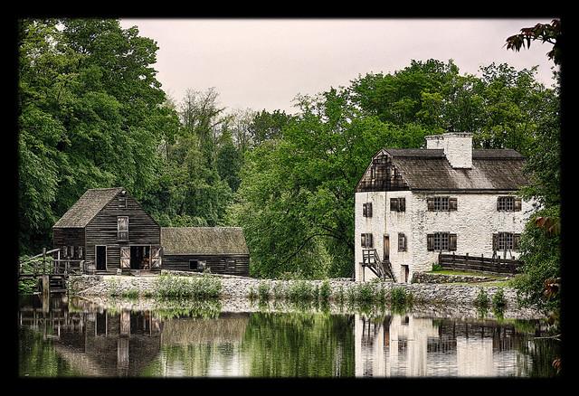 Sleepy Hollow N.Y. - Mühlenteich und Wassermühle Philipsburg Manor 06