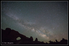 Milky Way over Arches 4838