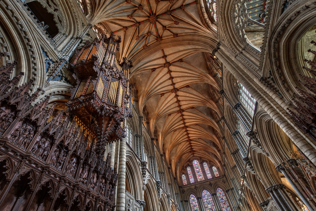 The Organ and the Nave of Ely Cathedral
