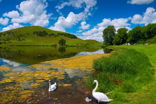 ireland lake reflection nature water landscape clare lough gur ire