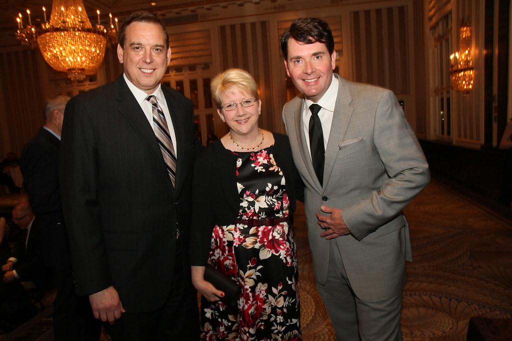 Walt Kane (L), News 12 NJ, Nancy Kane and John Bathke, New