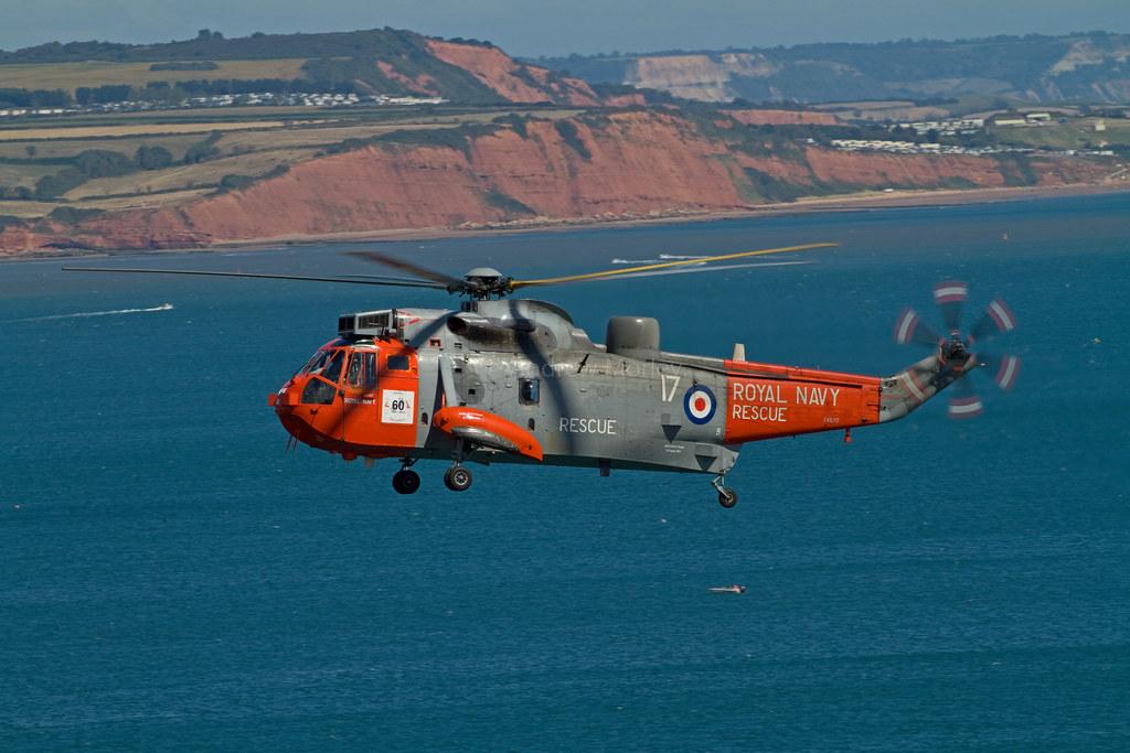 Royal Navy Seaking HU5 from 771NAS at Dawlish 2013.