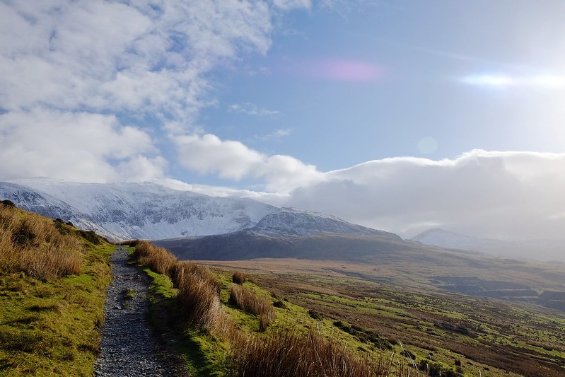 Snowdon Ranger path on a cold February day.