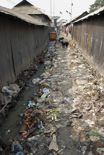 Untreated wastewater in Dhaka