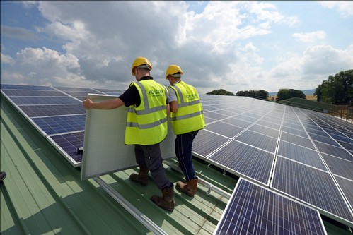 Commercial roof-top solar installation (C) Forster Energy - Copy | by solartradeassociation