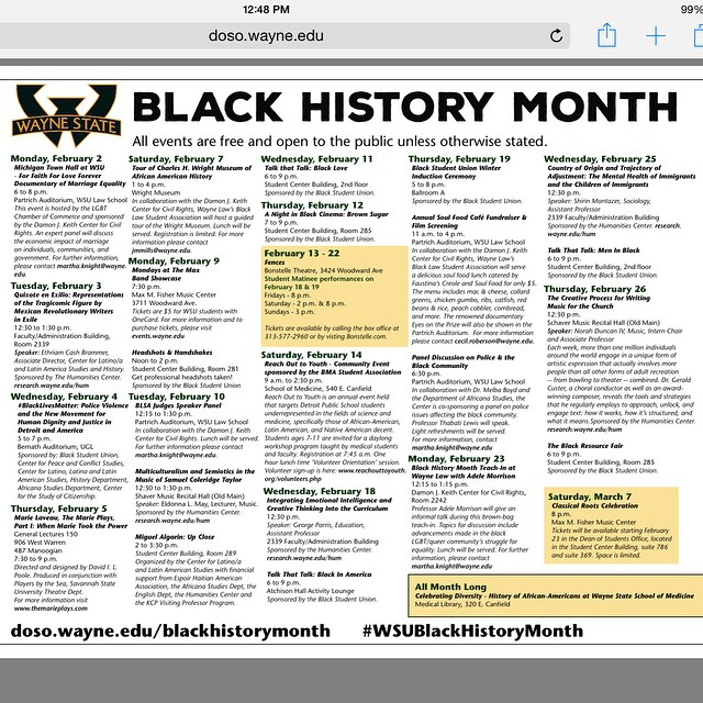 Wayne State Calendar.Be Sure To Check Out The Black History Month Calendar On O Flickr