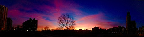 winter sunset panorama chicago lakeshore lakefront pw iphone
