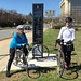 Teresa and Rachel at the Bike Counter in Rosslyn