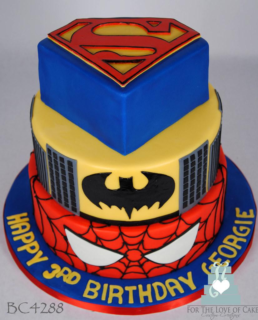 BC4288 DC Marvel Comic Super Hero Cake Toronto