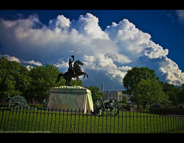 Political Storms bursts over Washington, DC