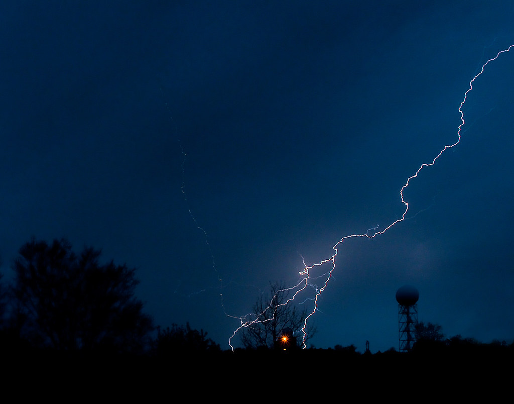 Lightning Strike - White Lake Radar | Lightning Strike near