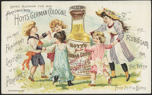 Perfumed with Hoyt's German Cologne, the most fragrant and lasting of all perfumes. Use Rubiform for the teeth. [front] | by Boston Public Library