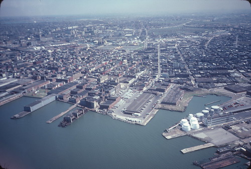 Aerial view of Bushwick Inlet and Greenpoint 1982 | by NYCEDC