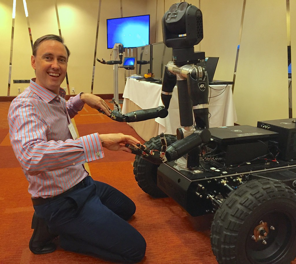 "Fingering the Future: the DARPA APL Tele-bot at ""Biology is Technology"""