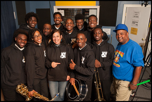 Landry Walker Chosen Ones with Nita Ketner and Action Jackson at WWOZ during the 2015 Spring Pledge Drive. Photo by Ryan Hodgson-Rigsbee www.rhrphoto.com