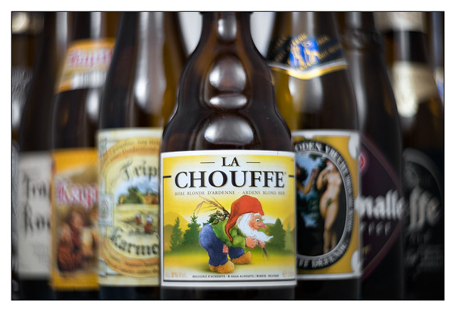 After La Chouffe I was sharp as a knife, after Le Fruit Défendu I felt slightly hazy and had visions of paradise but when I came to Westmalle and Leffe it was swirly here swirly there swirly everywhere