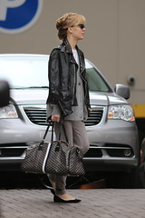 Melissa George, with Goyard monogram travel tote, Vancouver, March 24 2015  1