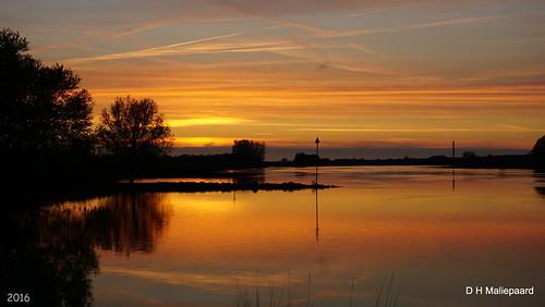 sunset zonsondergang sony rhenen coth nederrijn a6000