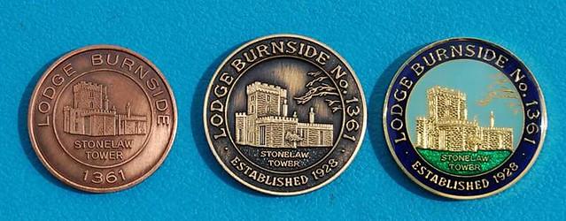 Lodge Burnside No.1361 Mark Tokens.