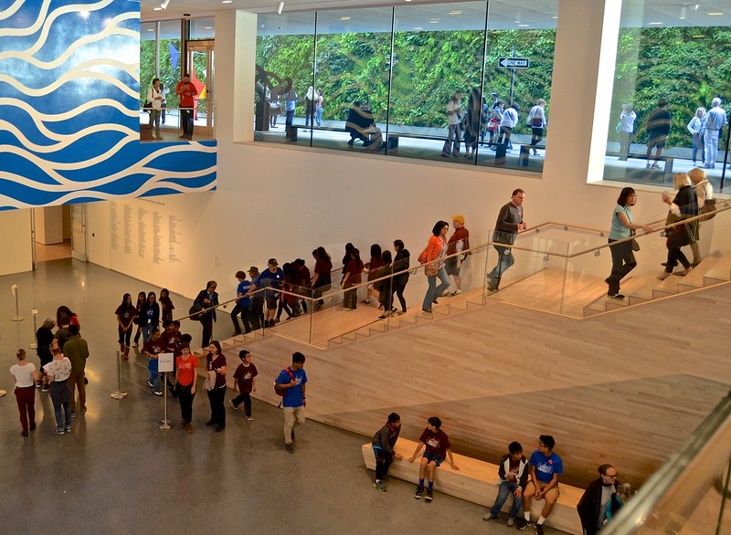 Museum of Modern Art, new, San Francisco, SF MOMA, tickets lower floor, living wall,