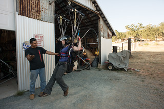 Joe Teaching Tara in a Powered Paragliding Simulator | by goingslowly