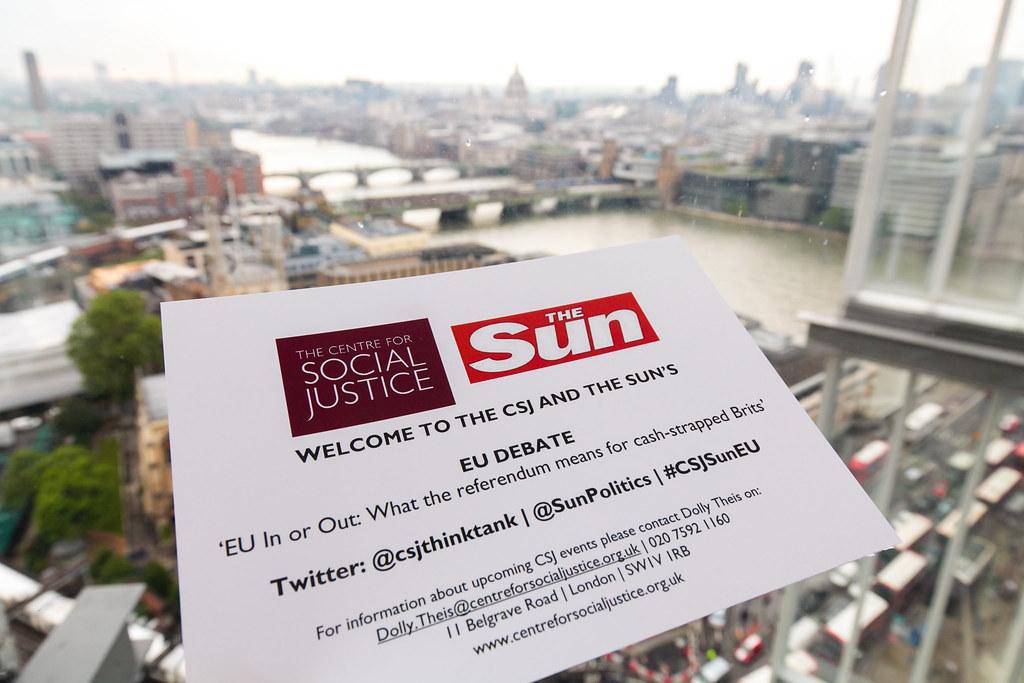 CSJ/Sun EU Debate Reception