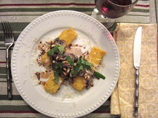 Fried Polenta with Creamy Mushrooms | by Texarchivist