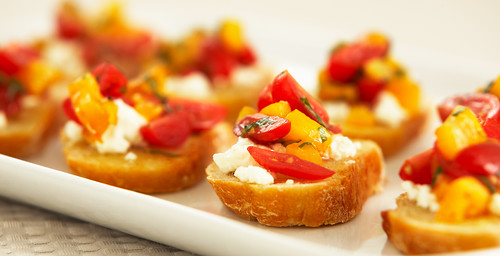 Bruschetta with Roasted Garlic Butter, Cherry Tomatoes 3of4 | by Breville USA