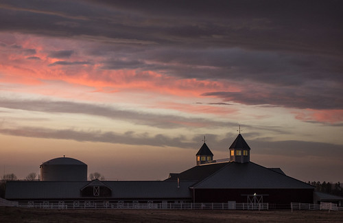 sunset wild sky cloud barn farm maine april 2013 skyporn pineland