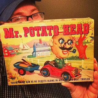 Mr Potato Head set with his Car and Boat Trailer! From 1959 reviewed by Mike Mozart on http://www.youtube.com/TheToyChannel | by JeepersMedia