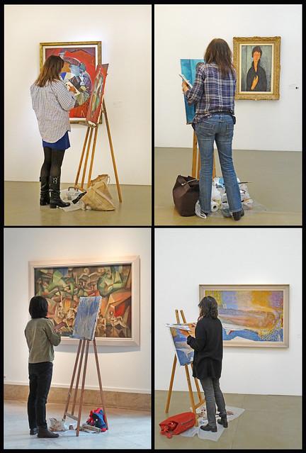 Les copistes (Musée d'art moderne de la ville de Paris)