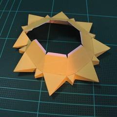 วิธีทำของเล่นโมเดลกระดาษรูปพระอาทิตย์ยิ้ม (Smiling Sun Paper Craft Model) 007