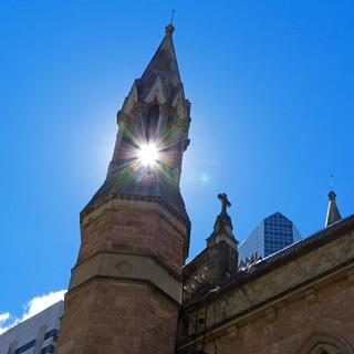 spire and sun | by Leonard J Matthews