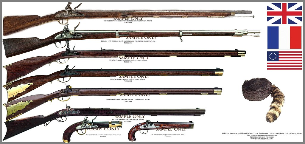 Revolutionary war muskets   Various weapons used by soldiers