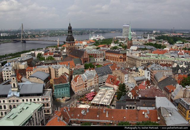 View from St. Peter's Church, Riga, Latvia