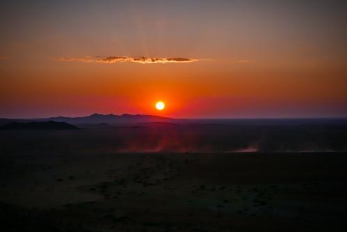 africa pink sunset orange cloud yellow landscape lumix desert wideangle na panasonic namibia hardap lx100 colorsofafrica
