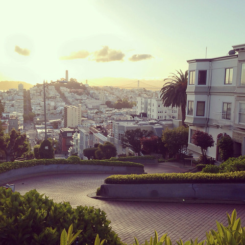 Lombard Street San Francisco at Sunrise | by nan palmero